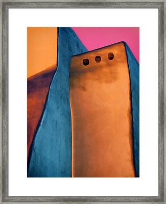 Intersect #1 Framed Print by Carol Leigh