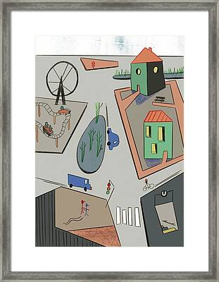 Intersection Framed Print by Benjamin Gottwald