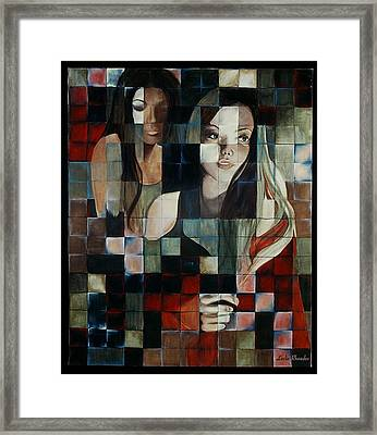 Intersections Framed Print by Leslie Rhoades