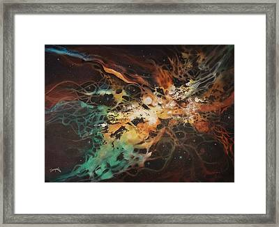 Interstellar Dna Framed Print by Tom Shropshire