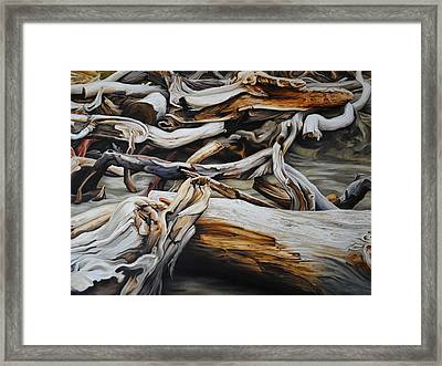 Intertwined Framed Print by Chris Steinken