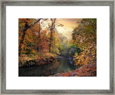 Intimate Autumn Framed Print by Jessica Jenney