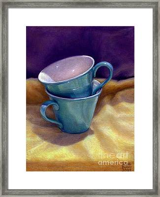 Into Cups Framed Print by Jane Bucci