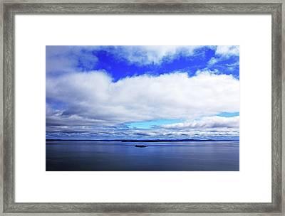 Into The Blue Framed Print by Debbie Oppermann