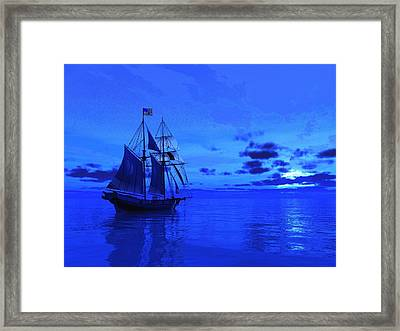 Into The Blue Framed Print by Timothy McPherson