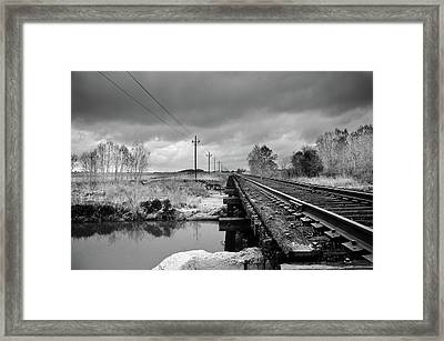 Into The Distance Framed Print by Matthew Angelo