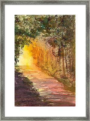 Into The Light Framed Print by Frank SantAgata