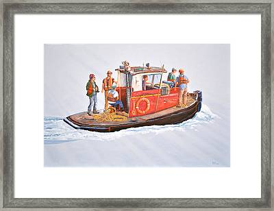 Into The Mist-the Crew Boat Framed Print by Gary Giacomelli