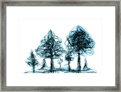 Into The Mysterious Forest Of Imagination Framed Print by Abstract Angel Artist Stephen K
