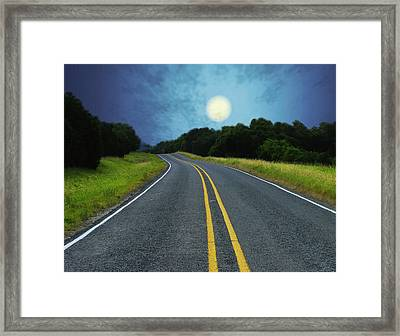 Into The Night Framed Print by Wendy J St Christopher