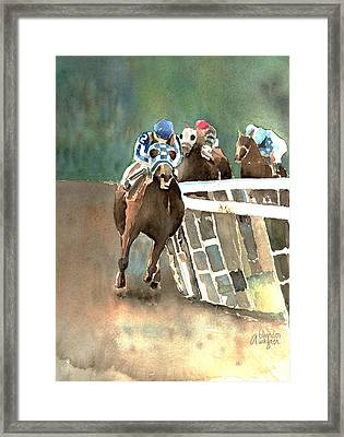 Into The Stretch And Headed For Home-secretariat Framed Print by Arline Wagner