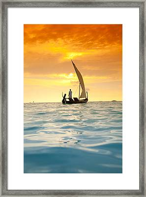 Into The Sunset Framed Print by Sean Davey