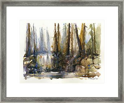 Into The Woods Framed Print by Kristina Vardazaryan