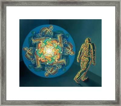 Introspection Framed Print by De Es Schwertberger