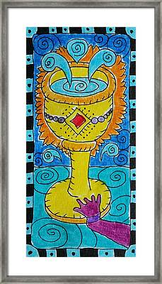 Intuitive Catalyst Card - Ace Of Cups Framed Print by Corey Habbas