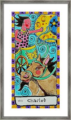 Intuitive Catalyst Card - Chariot Framed Print by Corey Habbas