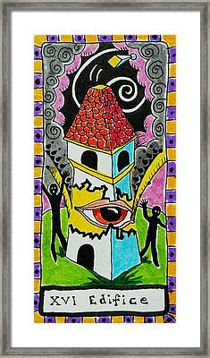 Intuitive Catalyst Card - Edifice Framed Print by Corey Habbas