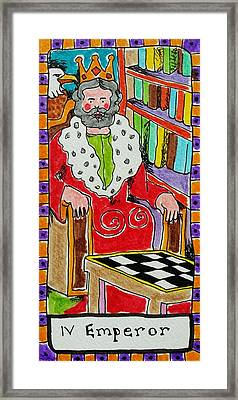 Intuitive Catalyst Card - Emperor Framed Print by Corey Habbas