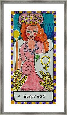 Intuitive Catalyst Card - Empress Framed Print by Corey Habbas