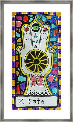 Intuitive Catalyst Card - Fate Framed Print by Corey Habbas