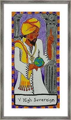 Intuitive Catalyst Card - High Sovereign Framed Print by Corey Habbas