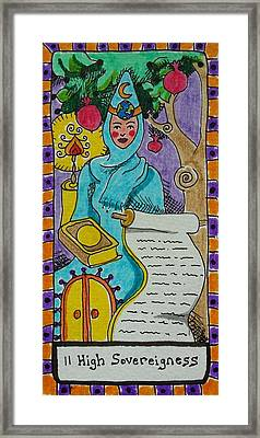 Intuitive Catalyst Card - High Sovereigness Framed Print by Corey Habbas