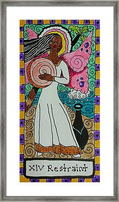 Intuitive Catalyst Card - Restraint Framed Print by Corey Habbas