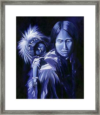 Inuit Mother And Child Framed Print by Nancy Griswold