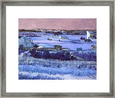 Inv Blend 18 Van Gogh Framed Print by David Bridburg