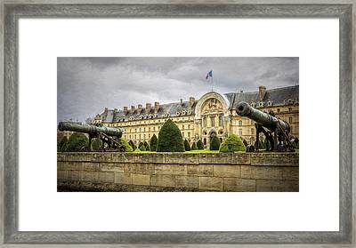 Invalides And Cannon Paris Framed Print by Joan Carroll