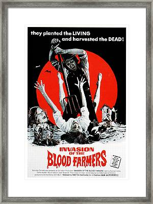Invasion Of The Blood Farmers, Poster Framed Print by Everett