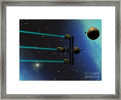 Ion Starliner Framed Print by Corey Ford