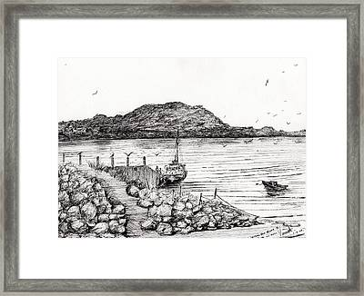 Iona From Mull Framed Print by Vincent Alexander Booth