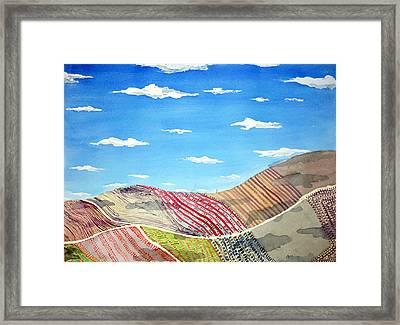 Iowa Fields  Iowa Clouds Framed Print by Jame Hayes