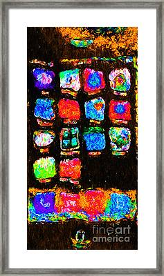 Iphone In Abstract Framed Print by Wingsdomain Art and Photography