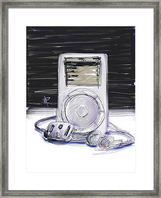 iPod Framed Print by Russell Pierce