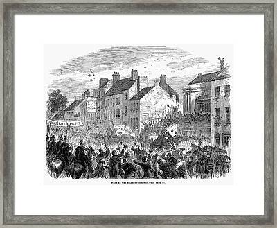 Ireland: Election, 1865 Framed Print by Granger