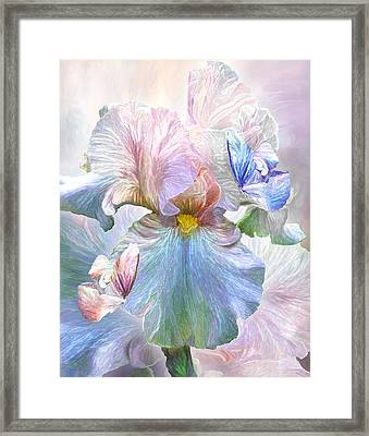 Iris - Goddess Of Serenity Framed Print by Carol Cavalaris