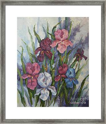 Iris Framed Print by M J Weber