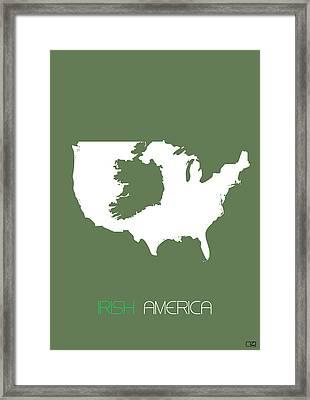 Irish America Poster Framed Print by Naxart Studio
