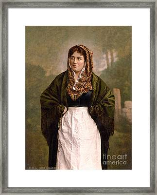 Irish Colleen, 1890s Framed Print by Science Source