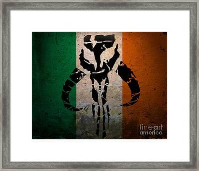 Irish Mandalorian Framed Print by Justin Moore