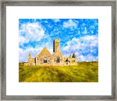 Irish Monastic Ruins Of Ross Errilly Friary Framed Print by Mark E Tisdale