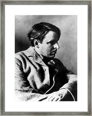 Irish Poet William Butler Yeats Framed Print by Everett