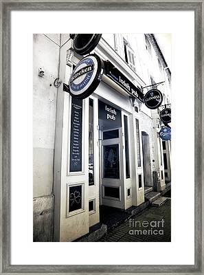 Irish Pub In Marseille Framed Print by John Rizzuto