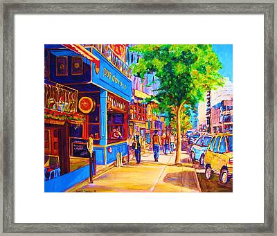 Irish Pub On Crescent Street Framed Print by Carole Spandau