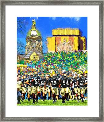 Irish Run To Victory Framed Print by John Farr