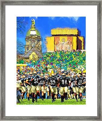 Irish Run To Victory Framed Print by John Farr