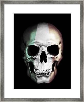 Irish Skull Framed Print by Nicklas Gustafsson
