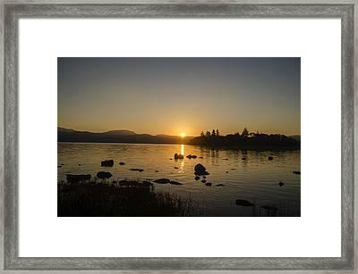 Irish Sunrise - Lough Eske County Donegal  Framed Print by Bill Cannon